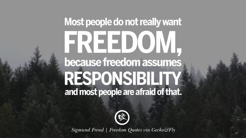 Kutipan Selebriti tentang Kebebasan